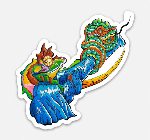 "Elephant Frog Guardian 3"" Sticker"
