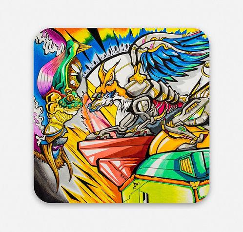 """Shaman Y El Zorro 2"""" Sticker"""