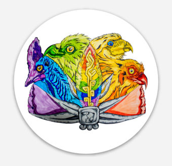 "Birds of One Feather 3"" Sticker"