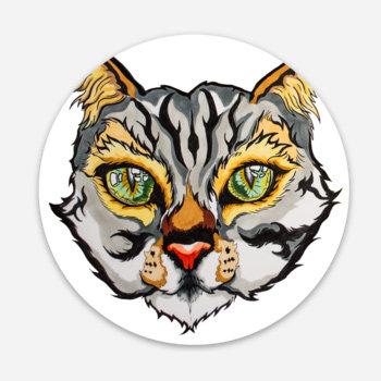 """Gato Salvaje 3"""" Sticker"""