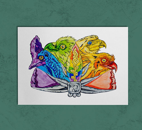 Birds of One Feather 14x11 PRINT