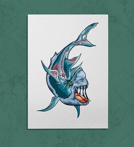 Great White Shark 14X11 PRINT