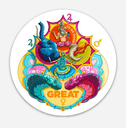 """Navagrahas 3"""" Sticker"""