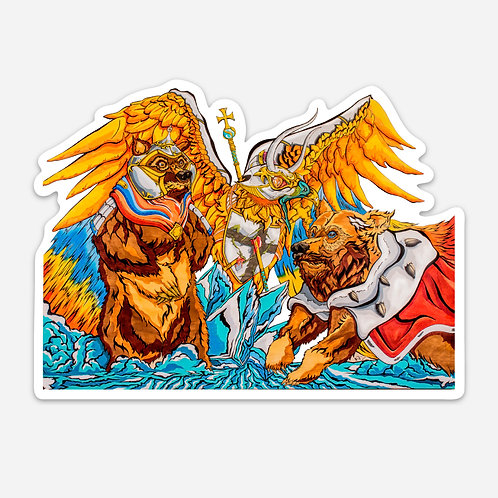 "Battle on Ice 5"" Sticker"