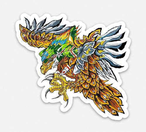 "Bald Eagle 3"" Sticker"