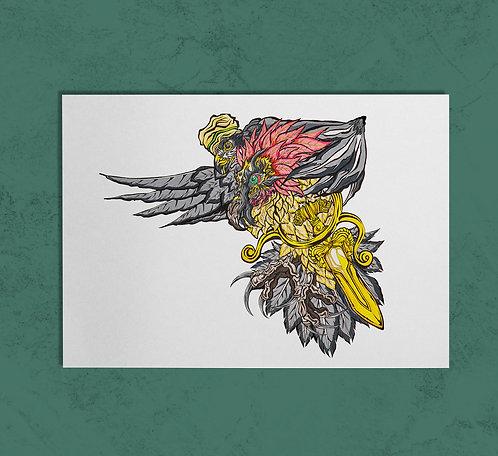 Darius the Great& Huma Bird 14X11 PRINT