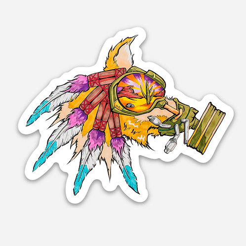 "Gas Hound 3"" Sticker"
