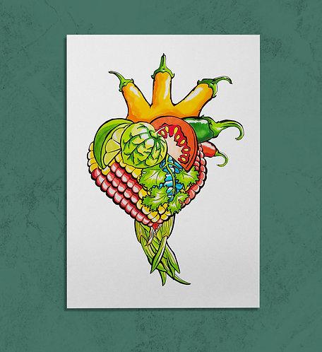 Corazon Culinarioi 11x14 PRINT