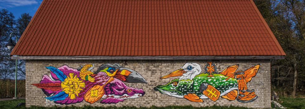 Kintai Curonian Spit Mural