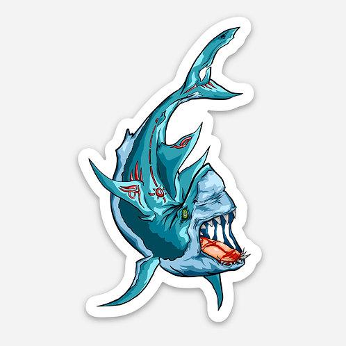 "Flying Shark 3"" Sticker"