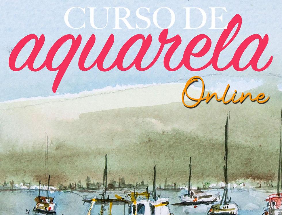 1 mês de curso de Aquarela Online