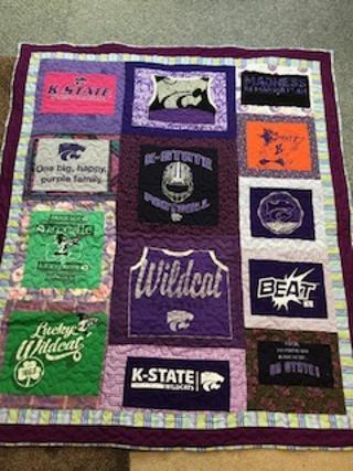 K State  (Kansas State University) lap quilt