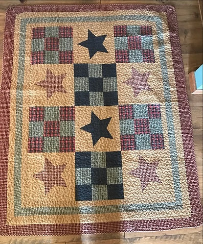Stars and 9 Square Quilt