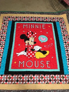 Walnut Valley Festival,  Minnie Mouse quilt