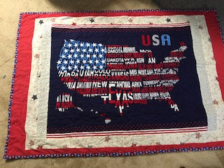 American Flag with States