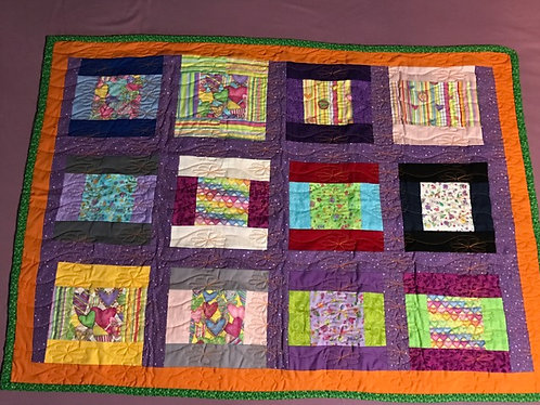 Soft Hearts Baby Quilt