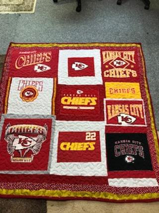 Kansas City Chiefs lap quilt