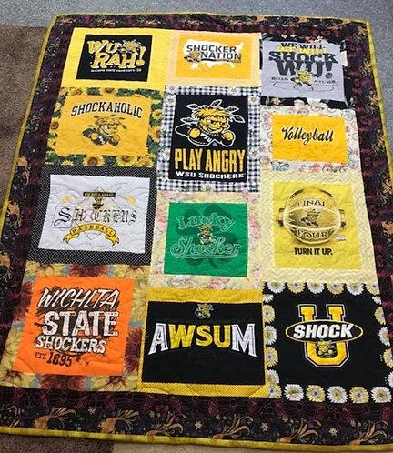 WSU (Wichita State University) lap Quilt