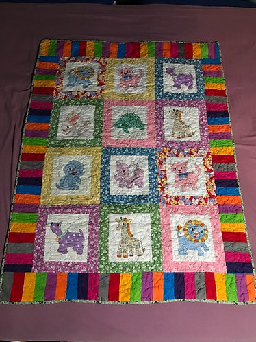 Cute Animal Baby Quilt