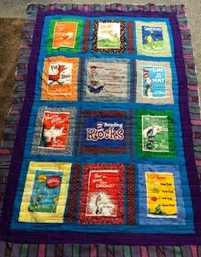 Cat in the Hat - Dr. Suess lap quilt