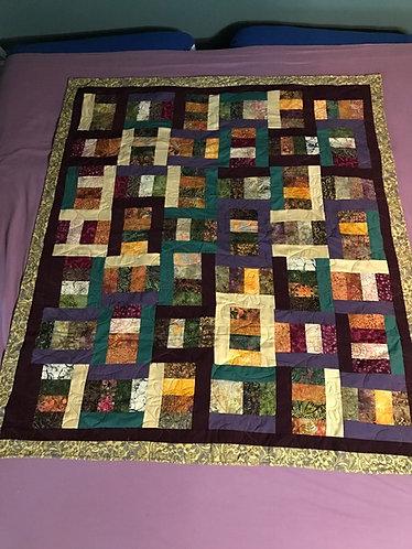 Batik Squares Quilt