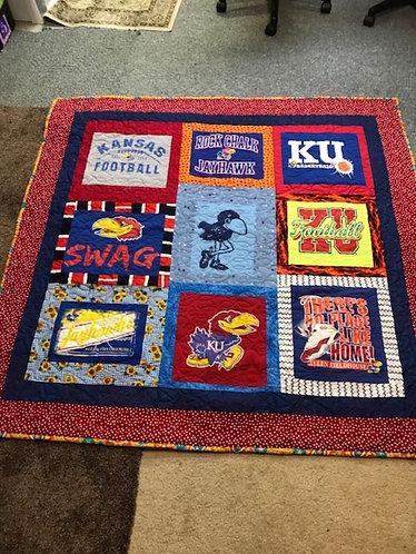 KU (Kansas University - Jayhawks) lap quilt