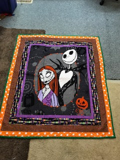 """Nightmare Before Christmas"" theme Quilt"