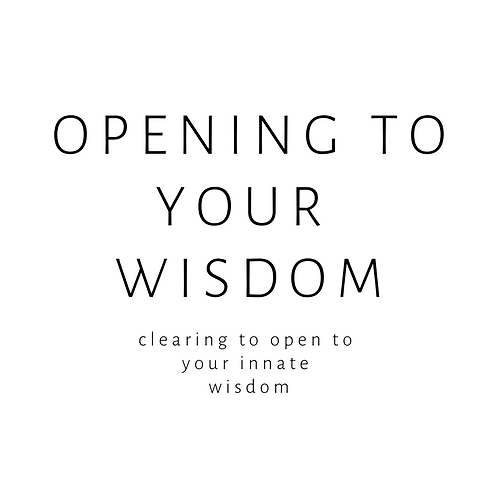 CLEARING PACKAGE: Opening to your innate wisdom