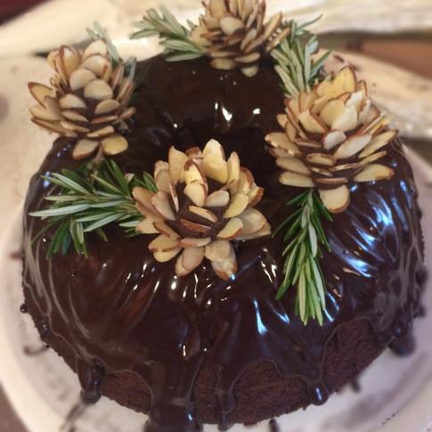 Chocolate Bundt with Shiny Ganache
