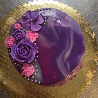 Marble Glaze Cake