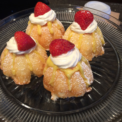 Strawberry and Lemon Curd Bundts