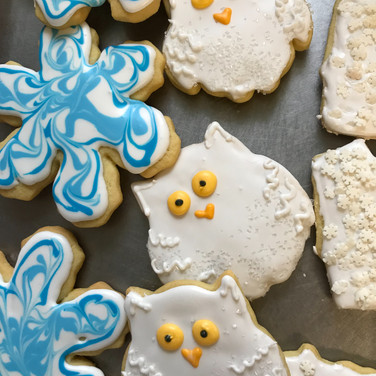 Sweet Snowy Owls and Snowflakes