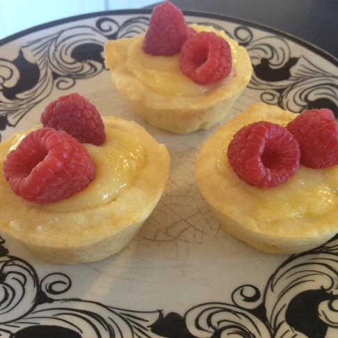 Raspberry Lemon Mini Tarts
