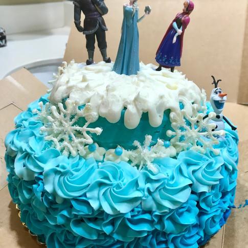 """Frozen"" cake."