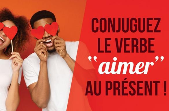 """Conjuguez le verbe """"aimer"""" au présent"""