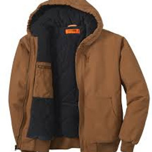 BHI Men's Duck Cloth Insulated Hooded Jacket