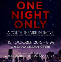 ONE NIGHT ONLY:  A Youth Theatre Initiative