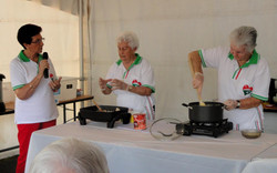 Cooking Demonstration at Global Grooves 2015