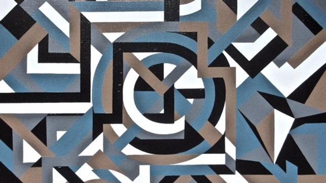 "Time Machine 30""x20"" Acrylic on Canvas by Ariel Chavarro Avila"