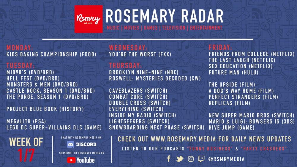 Rosemary Radar (1/7/19)
