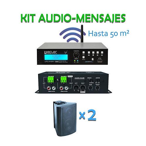 Kit Audio mensajes hasta 50m2