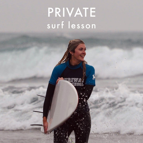 Private surf lesson at Muriwai Surf School, Auckland