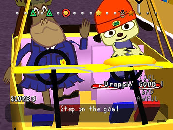 parappa the rapper ps1 playstation sony rap hip hop cartoon rgg retrogamegeeks.co.uk retrogaming videogames retro game geeks gamers gaming games music japan japanese dog sunflower toad bull master onion chop