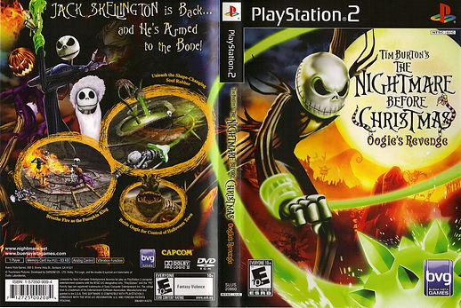 The Nightmare Before Christmas oogies revenge ps2 xbox sony playstation 2 capcom rgg retrogamegeeks.co.uk retrogaming videogames retro game geeks games halloween horror movies films tim burton pumpkin psx gamers gaming