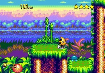 ristar sega megadrive genesis game gear master system games rgg retrogamegeeks.co.uk retrogaming retrogames videogames gaming retro collect classic sonic sonic team platform cartoon star shooting star genesis does