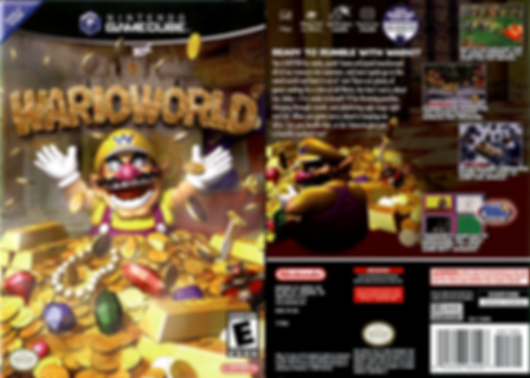 wario world nintendo gamecube ngc treasure retrogamegeeks.co.uk retro game geeks mario spin off box art ntsc usa rgg retrogaming videogames gamers gaming games gameboy advance