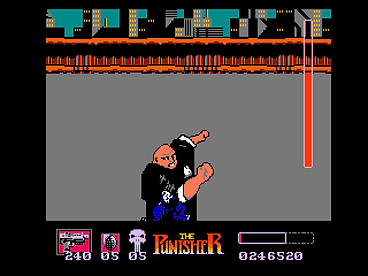 the punisher nes nintendo retrogamegeeks.co.uk retro game geeks marvel rom emulation box art ntsc usa rgg retrogaming videogames gamers gaming games comic book comics movies films