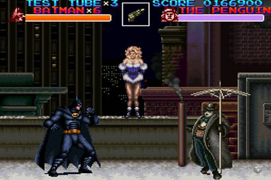 batman returns dc super catwoman nintendo snes famicom rgg retrogaming retrogamegeeks.co.uk retro collect nes wii gamers gaming videogames retrogames games penguin movie film