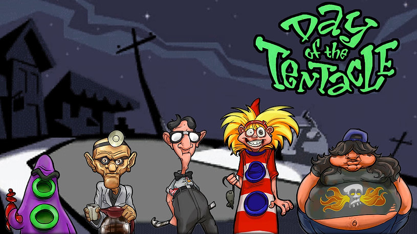 day of the tentacle pc ios windows ms dos maniac mansion nes scumm scummvm lucasarts dave grossman tim schafer double fine rgg retrogamegeeks.co.uk retrogaming videogames gamers gaming games retro game geeks gotm gamer ps4 playstation 4 vita mac os linux