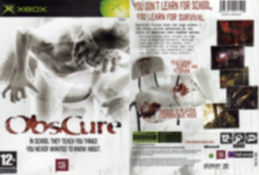 obscure survival horror xbox ps2 psp wii atari retrogamegeeks.co.uk retro rgg box art retrogaming videogames gamers gaming retro game geeks games scary demons monsters high school movies films